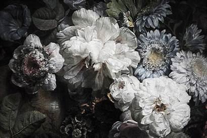 Floral Dark Anewall Mural Spaendonck Cornelis Van