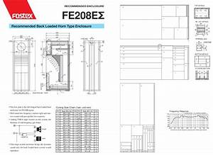Fostex Speaker Horn Box Enclosure Design Diy How To