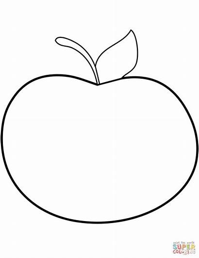 Apple Coloring Pages Apples Printable Line Drawing