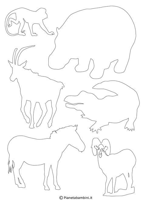 sagome  animali da stampare  ritagliare pianetabambiniit