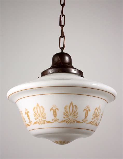 large antique neoclassical pendant light fixture with