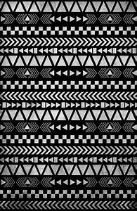 Tribal Print in Black and White Art Print by Gathered Nest ...