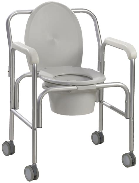 Bathroom Commode Accessories by Aluminum Commode With Wheels Drive Medical