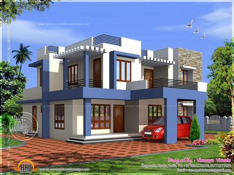 Box Type 4 Bedroom Villa  Kerala Home Design And Floor Plans