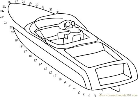 Free Online Speed Boat Games by Speed Boat Dot To Dot Printable Worksheet Connect The Dots