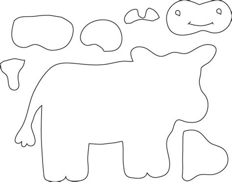 cow template cut out cow cloth felt books toys felt board patterns patterns and