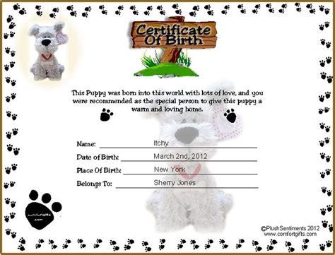 dog birth certificates printable puppy birth certificate template tattoos ideas