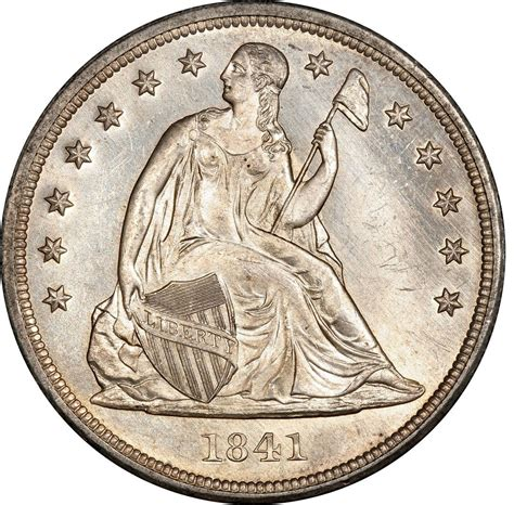liberty dollar coin 1841 seated liberty silver dollar values and prices past sales coinvalues com