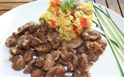 cuisiner les gesiers recette salade de riz aux gésiers de poulet frais 750g