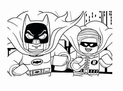 Coloring Pages Superhero Batman Lego Robin