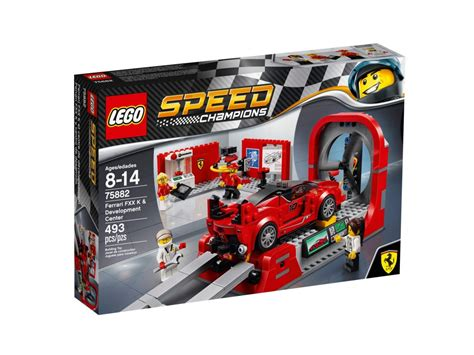 This set features a wind tunnel with a functioning roller and a rotating turbine for the. LEGO 75882 sale - Ferrari FXX K & Development Center ...