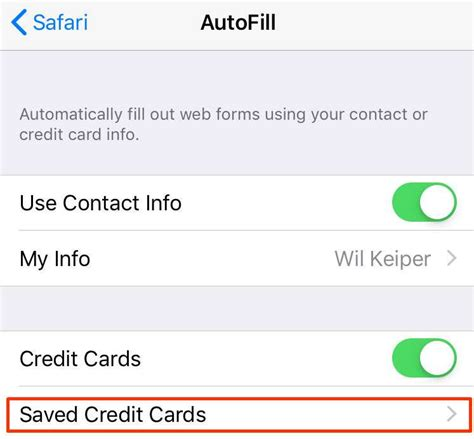 Storing information like credit card info is not something you should implement just based on responses on this site imo. How to save and use your credit card info on your iPhone | The iPhone FAQ