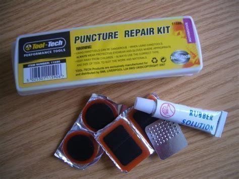 Bike Cycle Tyre Tube Puncture Repair Kit By Tool Tech