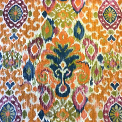 Upholstery Fabrics by Hm115 Tone Woven Ikat Geometric Geo Colorful
