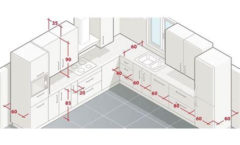 dimensions plan de travail cuisine aménager l 39 espace d 39 une cuisine cuisine