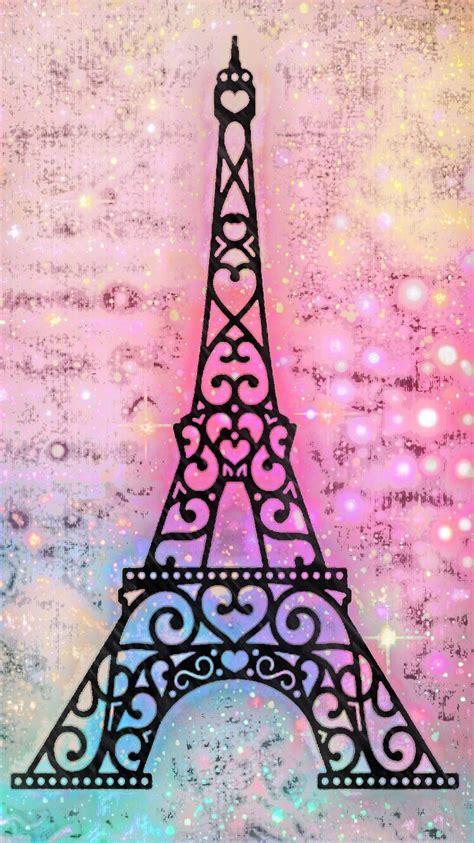 Eiffeltower Paris Glitter Sparkle Galaxy Pink Shimmer