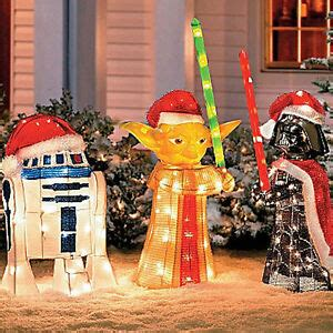 star wars yoda darth vader   outdoor christmas light
