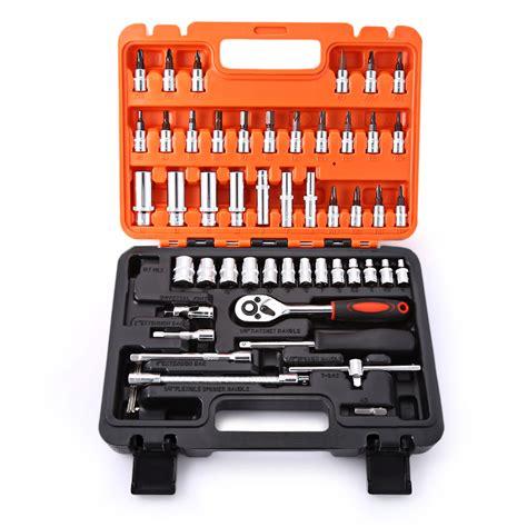 Buy 53pcs Auto Car Repair Tool Kit Box