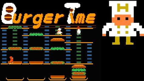 Burger Time (FC) | Playthrough - YouTube