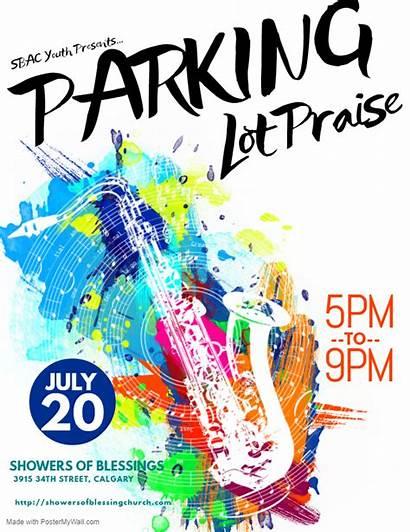 Parking Lot Praise Service Event