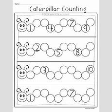 {caterpillar Counting Freebie} Common Core Math For Kindergarten