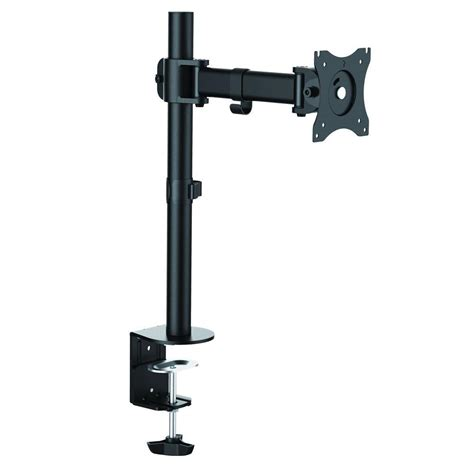 desk tv mount inland single monitor desk mount arm for 13 in 27 in