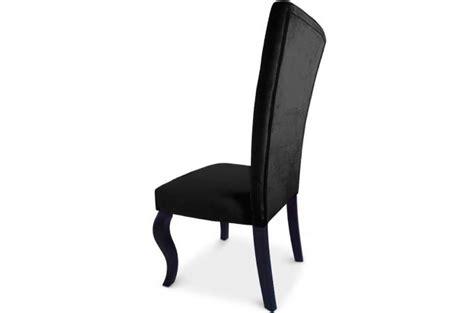 chaises capitonn es lot de 2 chaises capitonnées velours noir rockstar