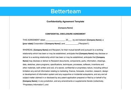 confidentiality agreement template confidentiality agreement free template with faqs