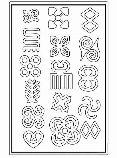African Symbols Clipart Coloring Printable Themes Clipground