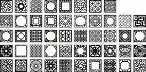 Kit 48 Panels Patterns Decorative Square Grids For Laser