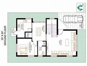 Floor Plan For 30 X 50 Plot 3 BHK 1500 Square Feet166