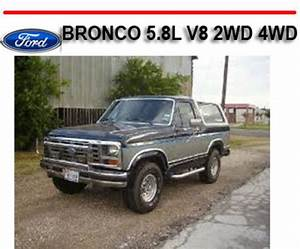 Ford Bronco 5 8l V8 2wd 4wd 1980-1986 Repair Manual