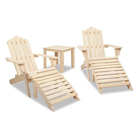 adirondack table and chairs adirondack chairs and side table 5 piece set natural