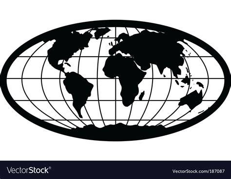 foto de Oval globe Royalty Free Vector Image VectorStock