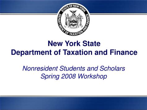 bureau of finance ppt york state department of taxation and finance
