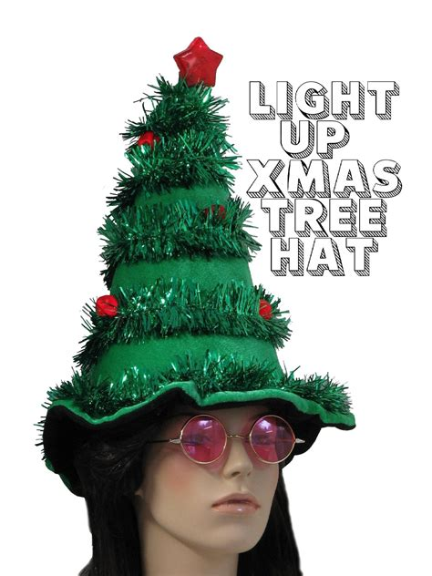 light up hat ugly christmas tree hat light up