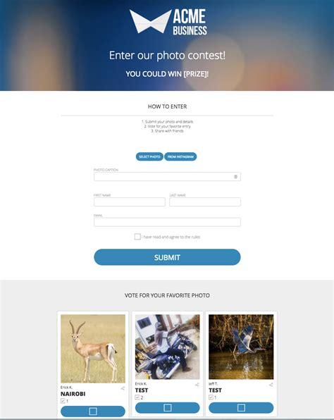 Photo Contest Template by 8 Steps To Running A Successful Contest Shortstack
