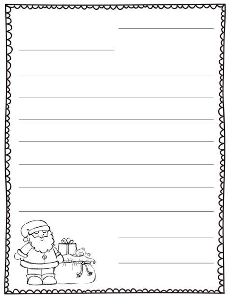 letter  santa blank template teaching santa letter