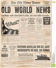 Best 25+ ideas about Old Newspaper Template | Find what you\'ll love