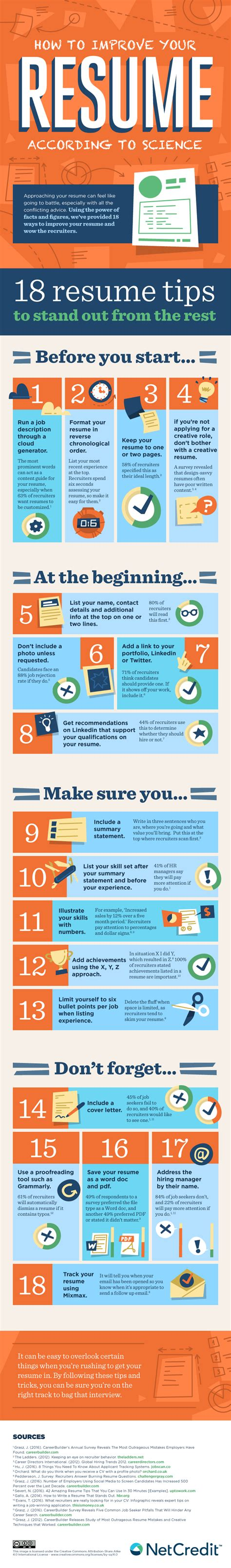 How To Improve Your Resume by Infographic Clean Your R 233 Sum 233 With These Simple