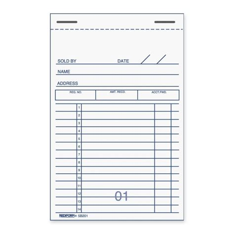rediform sales receipt book quickshipcom