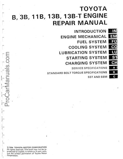 Toyota B 3B 11B 13B 13B-T Engine Repair Manual - CHARGING