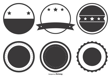 blank retro badge shapes download free vector art stock graphics images