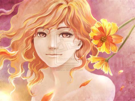 Moonless God Anime Mobile Myth Flowers Hestia By Zeldacw On Deviantart