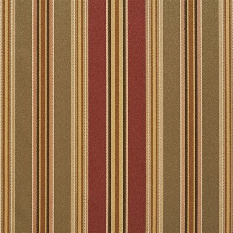 Striped Drapery Fabric by B0190c Green Burgundy Gold Striped Silk Look Upholstery