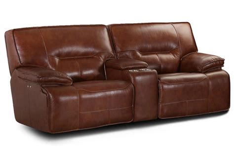 Power Reclining Loveseat by Leather Power Reclining Loveseat At Gardner White