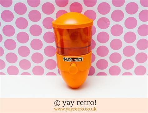 Orange Boxed Unused Caddy Matic Tea Dispenser   Vintage