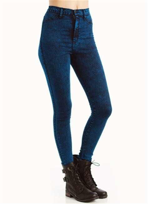 Colored Acid Wash Jeans