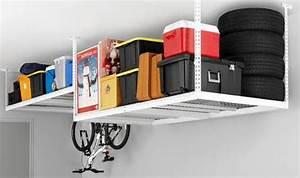 Rangement Plafond Garage : rangement au plafond garage box id e garage pinterest ceiling storage rack garage ~ Melissatoandfro.com Idées de Décoration