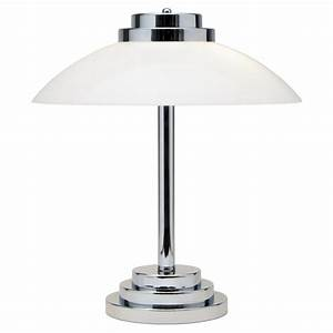 typical art deco style table lamp chrome base with opal With artistic lighting floor lamp chrome
